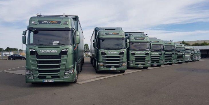 Parc de camions avec chariot embarqué Cargomatic